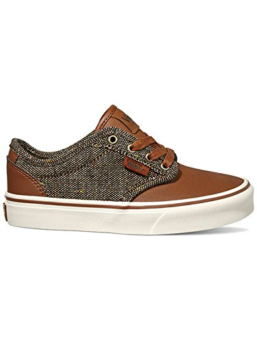 Vans YT Atwood Deluxe Tortoise Shell Textile Youth Trainers Tortoise Shell