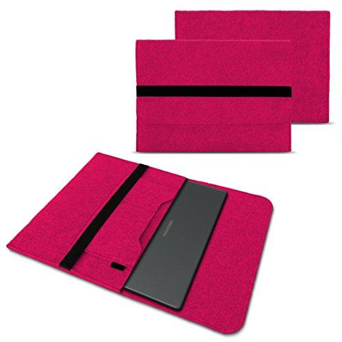 NAUC Schutzhülle für Medion Akoya Akoya E4272 Convertible Tasche Hülle Filz Sleeve Cover Notebook Case, Farben:Pink
