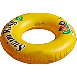 KriTech Inflatable Swim Ring - Blow Up Floating Raft Tube for Swimming Pool Beach (90 cm)