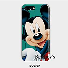 New Disney MINNIE CARTOONS trasparente Cartoons character and others trasparente in poliuretano termoplastico per iPhone-Cover per Apple iPhone 7, 8, 7PLUS & 8PLUS plastica, (iphone 6, MICKEY SMILIE)