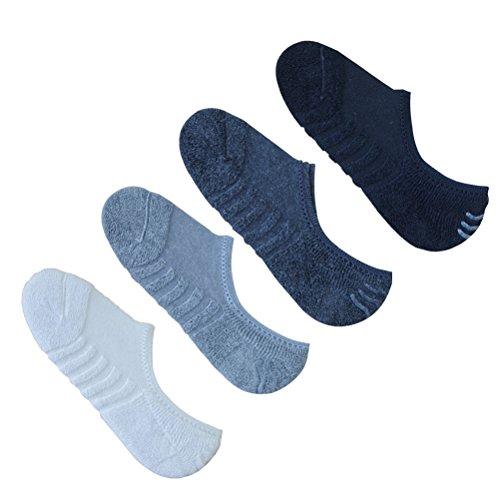 Tinksky 4 pares de calcetines de tobillo de las mujeres no muestran antideslizantes calcetines de algodón cómodo bajo corte regalo de cumpleaños de navidad para amigos