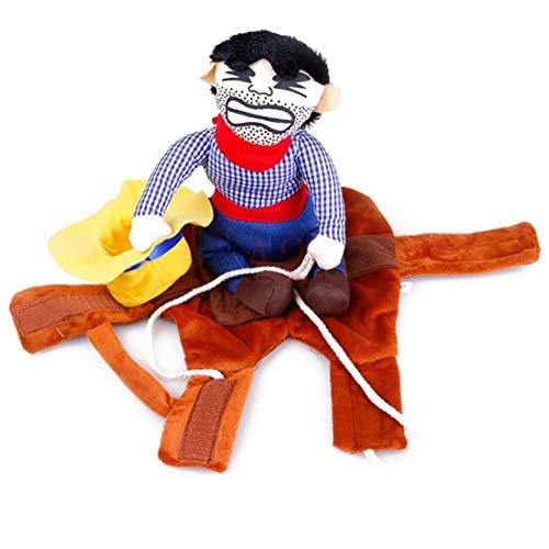 Bontand Cowboy Reiter Hundekostüm Haustier-Outfit Ritter-Art Mit Puppe Und Hut Für HHalloween Kostüm Haustier Lustige Kleidung