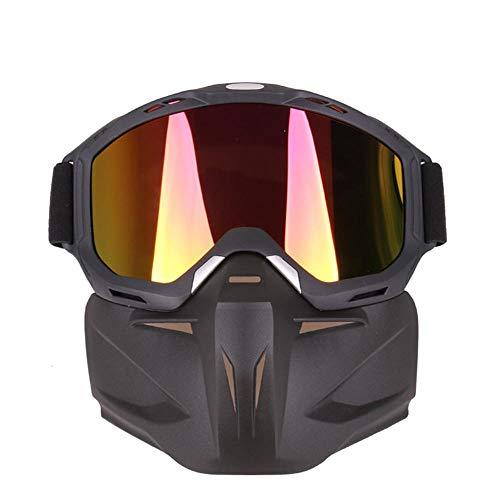 ANSKT Masken Sie die Anti-Schock-Skibrille für den Retro-Renneinsatz im Gelände