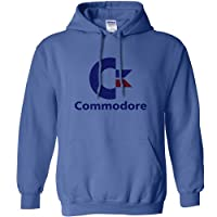 Mens Commodore Logo Hooded Top - Indigo - Medium