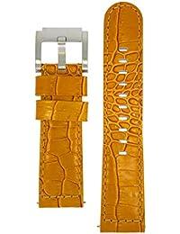 TW Steel Marc Coblen Armband Uhrenband Uhrenarmband Leder 22 MM Kroko Braun LB_BR_K_S