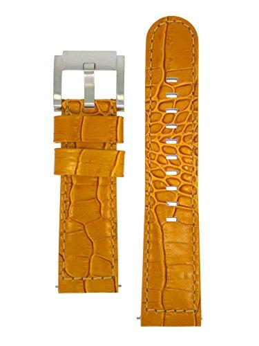 TW Steel Marc Coblen Armband Uhrenband Leder 22 MM Kroko Braun LB_BR_K_S