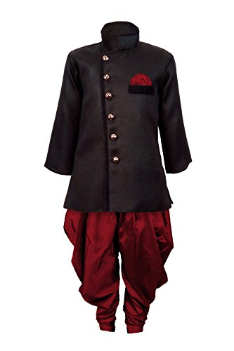 JBN Creation Kids Biker Jacket Look Indowester Sherwani Suit Dress with Patiala...