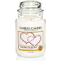 Yankee Candle candela profumata in giara grande, Snow in love, durata: fino a 150 ore