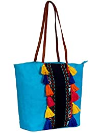 Anekaant Hoist Canvas And Jacquard Tote Bag