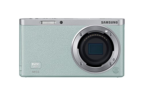 Samsung NX Mini 20.5MP CMOS Smart WiFi and NFC Compact Interchangeable Lens Digital Camera with 9-27mm Lens and 3-inch Flip-Up LCD Touchscreen (Mint Green), 16GB card with Free Samsung Backpack