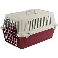 Ferplast 73009799ELW2 Transportbox ATLAS 30 EL, für Katzen und Hunde, Maße: 60 x 40 x 38 cm, bordeaux