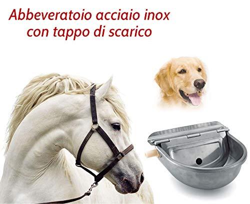 Abbeveratoio automatico per cani cavalli pecore ecc. In acciaio inox 304 spessore 12 . con tappo di scarico per una veloce e facile pulizia.