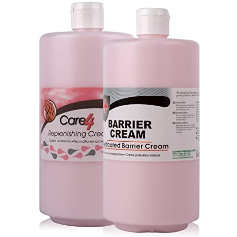 Medicated Barrier Cream 750ml and Care 4 After Work Cream 750ml. High quality replenishing and barrier creams - Comes With TCH Anti-Bacterial Pen!