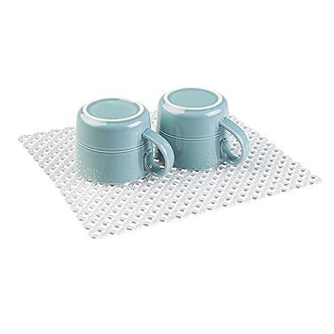 mDesign Kitchen Sink Protector Grid - Sink Saver - Sink Protector Rack for Kitchen Sinks - Regular - Clear