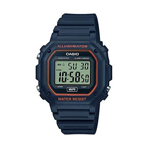 CASIO Unisex Erwachsene Digital Quarz Uhr mit Harz Armband F-108WH-8A2EF