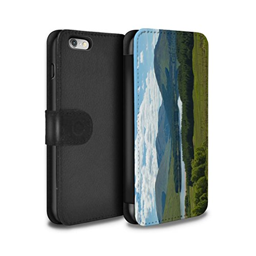 STUFF4 PU-Leder Hülle/Case/Tasche/Cover für Apple iPhone 6S / Pack 14pcs Muster / Schottisch Landschaft Kollektion Gebirge/Loch