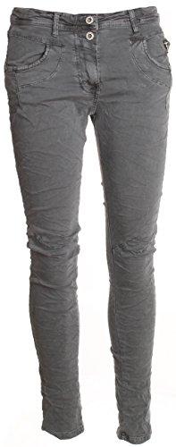 Basic. de Boyfriend Jeans pantaloni da donna 2pulsante Grau (2-Knopf) XL