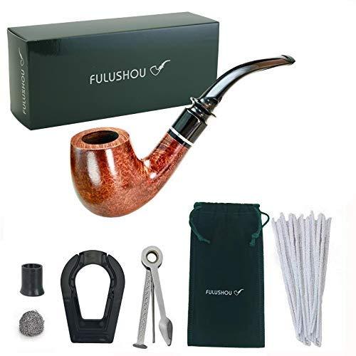 b3003487e4 KOKOKA Tabacco Pipa Kit Premium Handcrafted Briar Wood, Regalo Perfetto  Gentiluomo di un Vintage Pipe