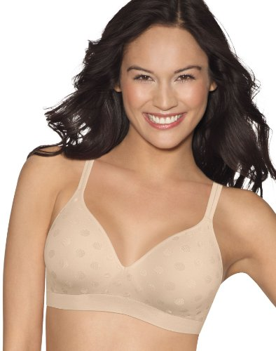 Hanes Womens Perfect Coverage ComfortFlex Fit Wirefree Bra(G260)-Soft Taupe-M -