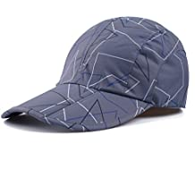 Gray Camo Hats,Camouflage Caps Breathable Running Quick Dry Folding Brim Hat Under 10 UV