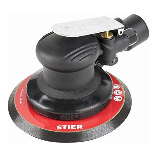 STIER Exzenterschleifer, EXS-120, Länge 187 mm, Schleifteller 150 mm, geeignet für Nass- und Trockenschliff, mit