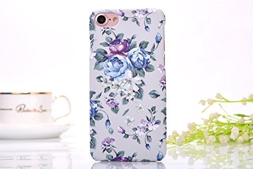 iphone7 Schutzhülle Smartphone Case einzigartige Design Back Cover Tasche (Blumen 7)
