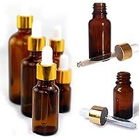 Botella cuentagotas HESDEL de vidrio ámbar reactivo líquido pipeta botella cuentagotas vacía