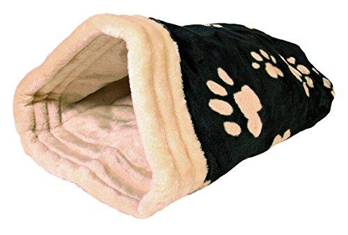 Trixie 36863 Jasira Kuschelsack, 25 × 27 × 45 cm, schwarz/beige