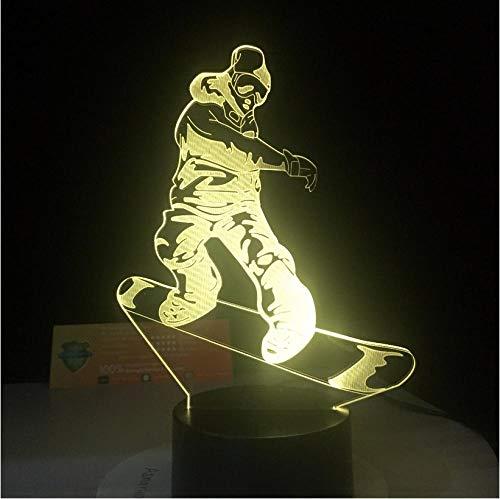 Beleuchtung LED Snowboard Lampe 7 Farbwechsel 3D Light Illusion Nachtlampe