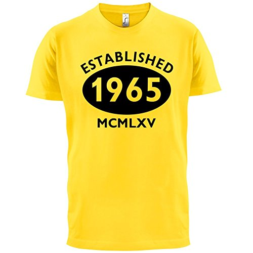 Gegründet 1965 Römische Ziffern - 52 Geburtstag - Herren T-Shirt - 13 Farben Gelb