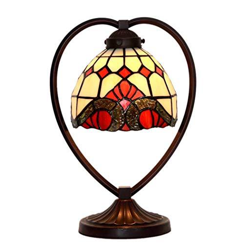 Tiffany Style Table Lampe, romantisch, Trauben gestählt Glastisch Lichter, Retro Living Room, Schlafzimmer Dekoration Nacht Licht 40W -