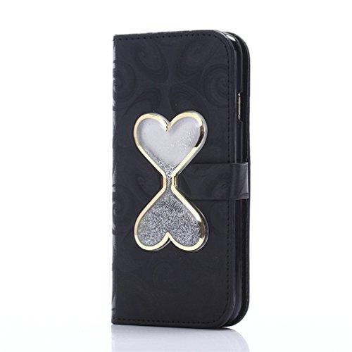 iPhone 7Coque liquide Housse de paillettes, CE i7[Sparkle Diamant Mode Miroir] Luxe Bling hybride souple TPU Bumper + Ultra fin PC Dos rigide Miroir pour iPhone 711,9cm [+ 1x protecteur d'écran + V Hourglass Case 5