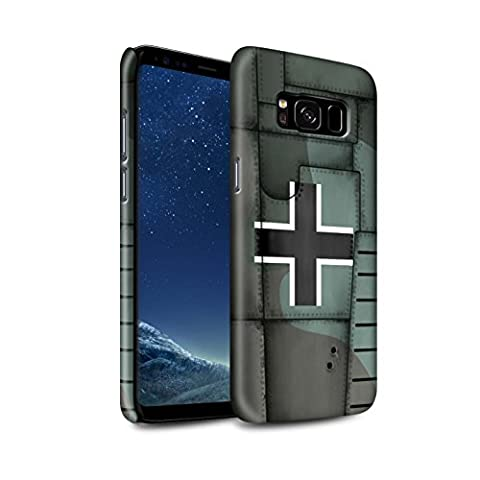 STUFF4 Gloss Hard Back Snap-On Phone Case for Samsung Galaxy S8/G950 / Germany/Green Design / Airplane Fighter Wing Collection