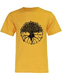 PALLAS Men's Tree of Life Symbols T Shirt -PA235