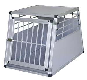Kerbl 82392 Alu-Transportbox für Hunde 92 x 65 x 65 cm, mit Kissen