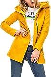 ONLY Damen Kurzmantel Übergangsmantel Damenjacke Jacke Kapuzenjacke (M, Chai Tea/Melange)