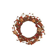 Your Hearts Delight Berries with Rusty Stars Wreath, 6-Inch, Burgundy and Orange by Your Hearts Delight