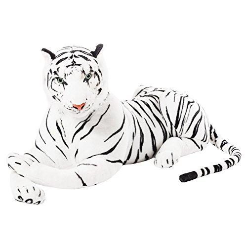 GYD Weißer Tiger Wildtier liegend Plüsch Kuscheltier ca. 80 cm Länge