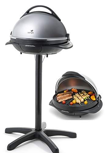 Senya Barbecue électrique 2 en 1 sur Pied et sur Table Easy Grill, Gris