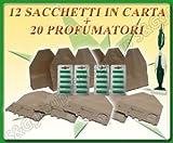 2 CONFEZIONI DA 6 SACCHETTI E 2 DA 10 PROFUMINI ASPIRAPOLVERE FOLLETTO 130 131