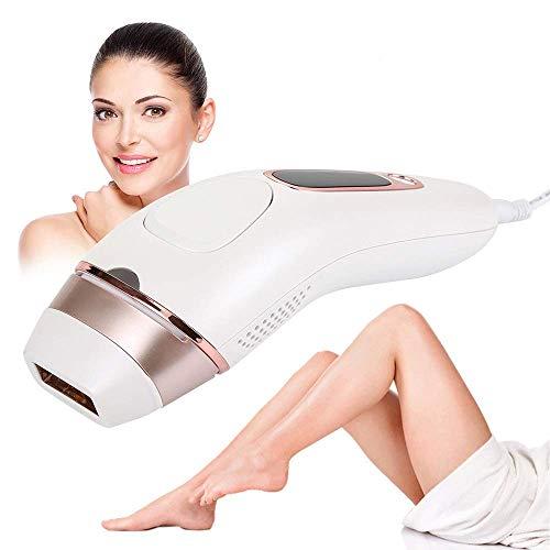 H-O IPL-Haarentfernung, dauerhafte sichtbare Laser-Haarentfernung zu Hause für Körper und Gesicht, Netzkabel für den Dauereinsatz Sonic Body Exfoliator, Weiß
