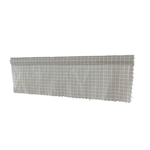 WINOMO Gardine Deko-Fenster-Sol Anzeige Parda Lüftungsgitter für Balkon 145x 45cm (grau)