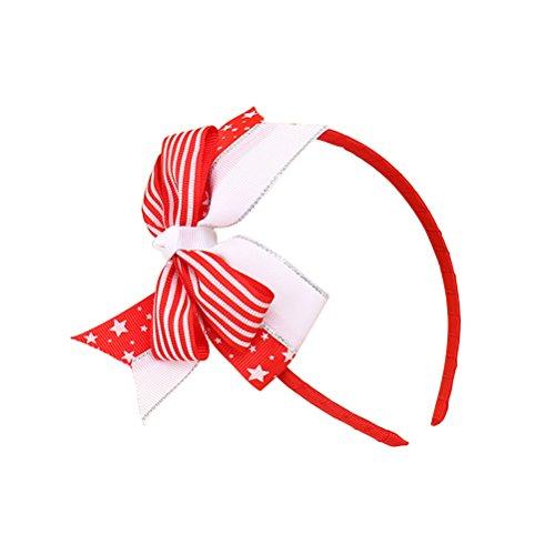 Tinksky Bandeau patriotique Drapeau américain Band Head Independence Day Headwear Hair Hoop Filles Coiffure pour la Journée du drapeau national