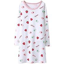 AOSKERA Camisa de Dormir de algodón camisón Fruit Girl Durante ...