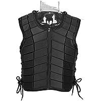 GOTOTOP Negro Unisexo Chaleco Ecuestre de Equitación Guardia Protectora Protector del Cuerpo Engranaje (XL)