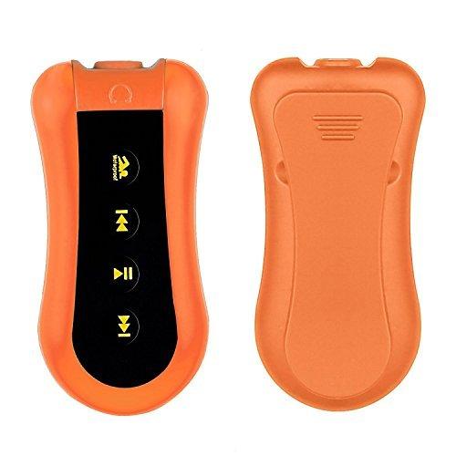 MOKE 8GB Sport Schwimmen Tauchen Wasserdicht Tauchen Unterwasser -Wasserdicht bis 3 Meter mit MP3-Player FM-Radio-Kopfhörer für das Laufen Schwimmen Radfahren Fitness (schwarz)