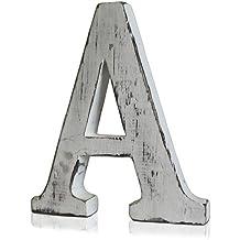 Letras de madera lavada, diseño moderno, A a Z, A