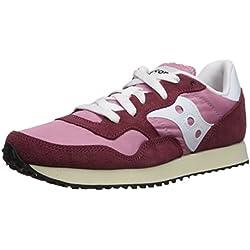 Saucony DXN Trainer Vintage, Zapatillas de Cross para Mujer, Rosa (Burgundy/Pink 22), 40 EU