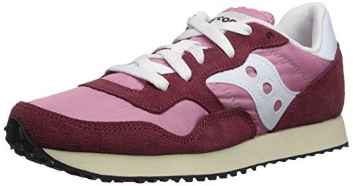 Saucony DXN Trainer Vintage, Zapatillas de Cross para Mujer, Rosa (Burgundy/Pink 22), 35.5 EU