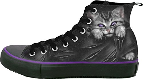 Spiral Women – Bright Eyes – Sneakers – Ladies High Top Laceup – 40 EU/7 UK